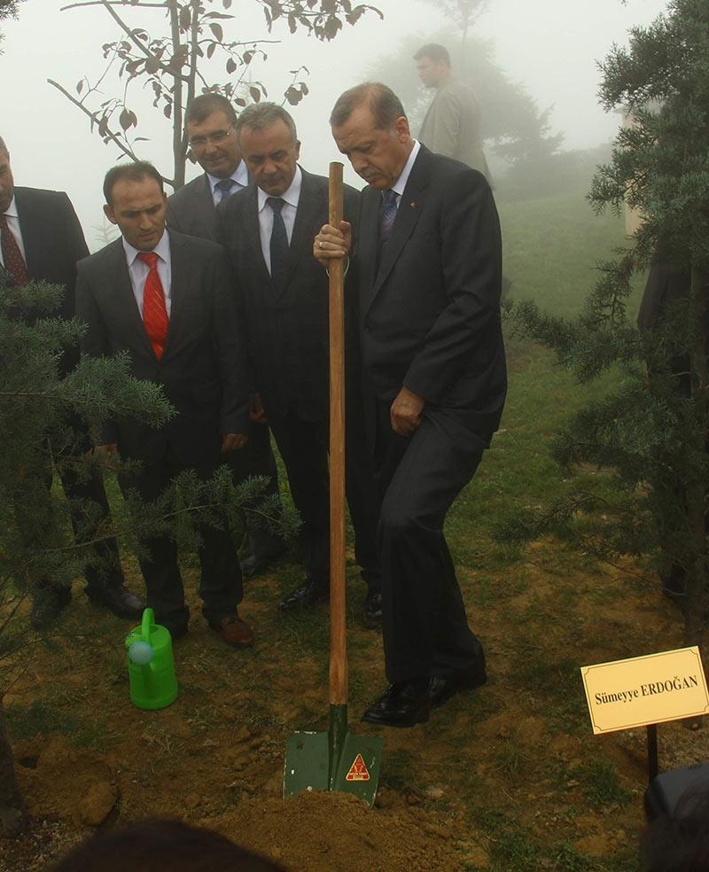 Rize'de Cumhurbaşkanı Erdoğan'ın başına keklik kondu 8