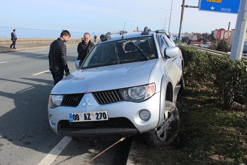 Pazar'da trafik kazası: 4 yaralı 1