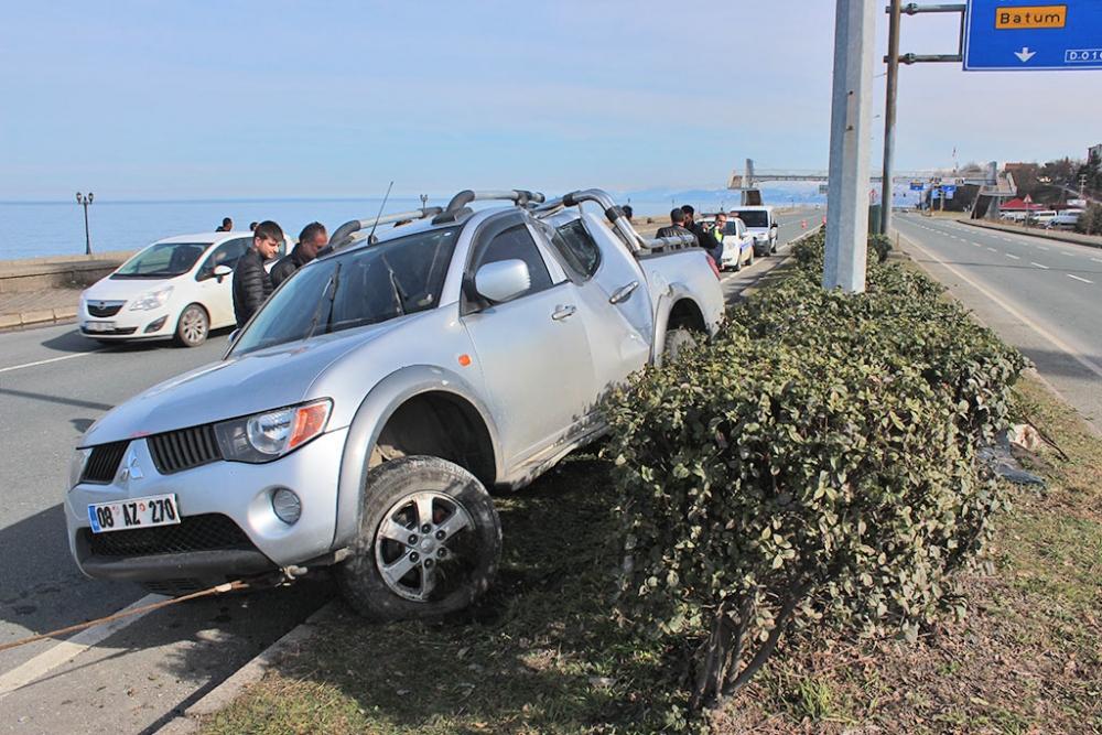 Pazar'da trafik kazası: 4 yaralı 3