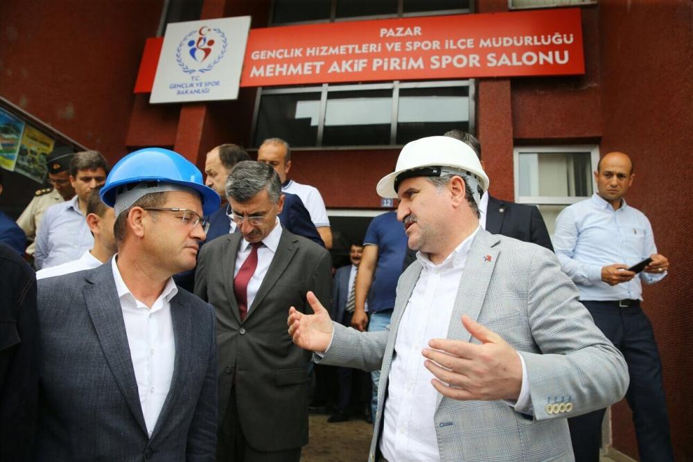 Bakan Bak, Pazar M. Akif Pirim Spor Salonuna el attı 2