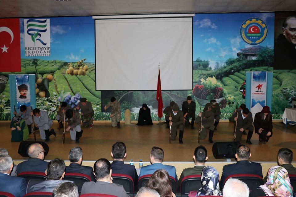 Pazar'da Çanakkale Zaferi ve Şehitleri Anma etkinliği 47