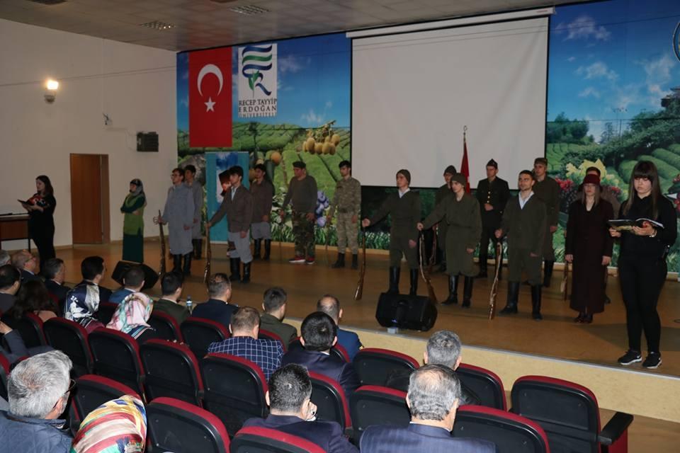 Pazar'da Çanakkale Zaferi ve Şehitleri Anma etkinliği 48