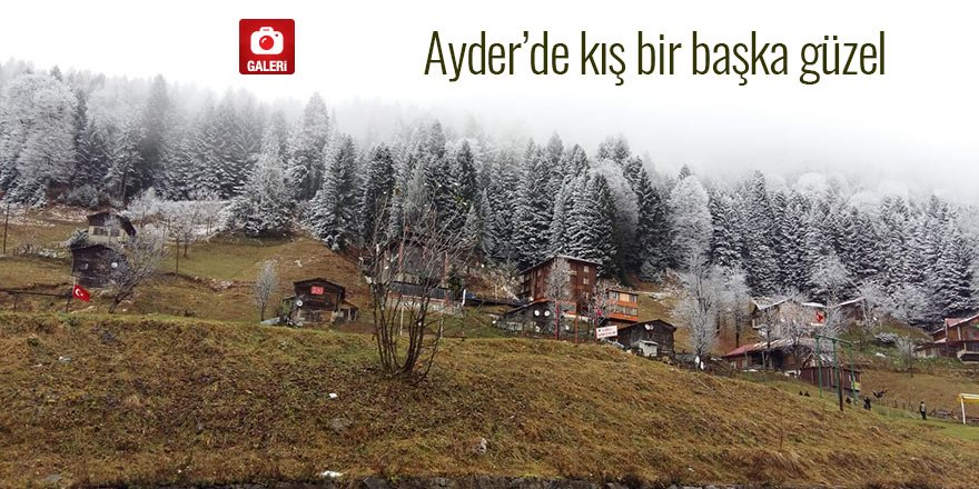 Ayder'de kış bir başka güzel