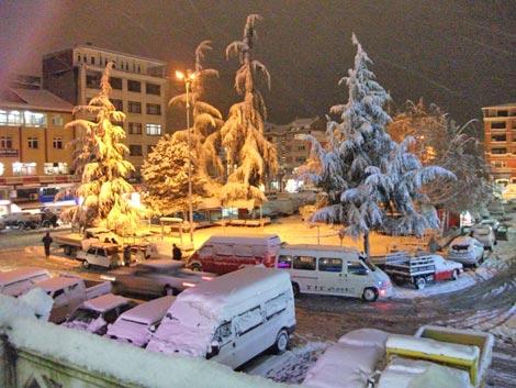 Pazar'dan kar manzaraları 12