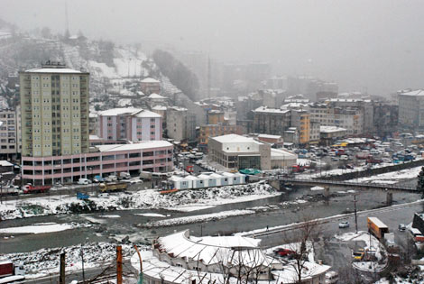 Pazar'dan kar manzaraları galerisi resim 4