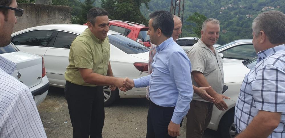 Başkan Türüt Pazar'da köylere giden yatırımları inceledi 1