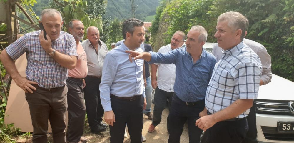 Başkan Türüt Pazar'da köylere giden yatırımları inceledi 12