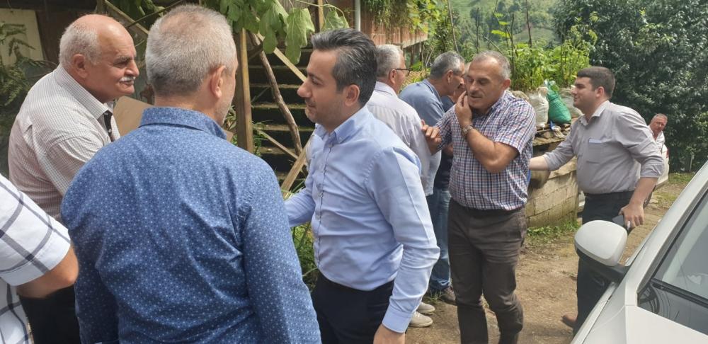 Başkan Türüt Pazar'da köylere giden yatırımları inceledi 14