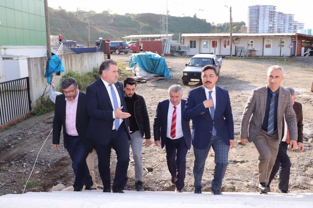 Milletvekili Bak, Pazar'da yatırımları denetledi 39