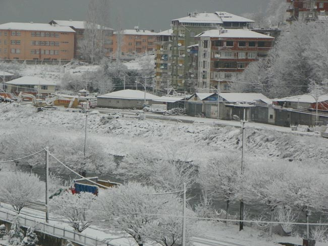 Pazar'dan kar manzaraları 16