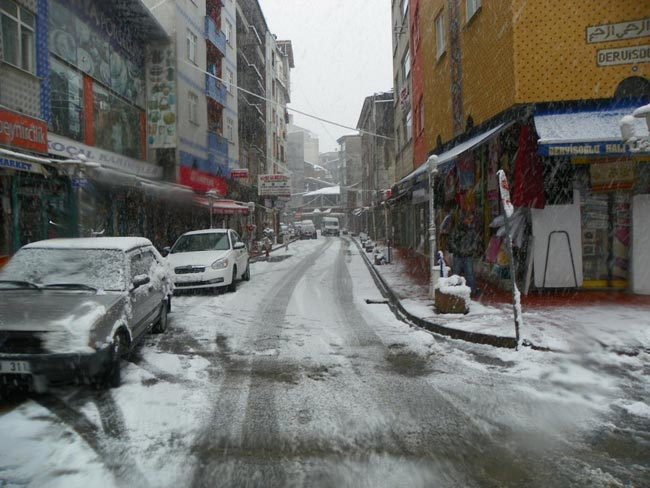 Pazar'dan kar manzaraları 8
