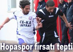 Hopaspor Samsun'da fırsatı tepti