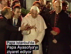 Papa S.Ahmet'te dua etti. VİDEO