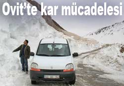 Ovit'te 4 araç 10 gündür kar altında