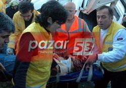 Gündoğdu'da korkunç kaza