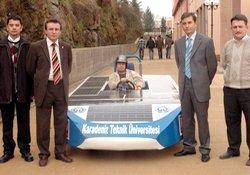 KTÜ güneş enerjili araba yaptı!