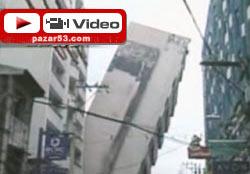 11 katlı bina böyle yıkıldı!