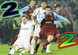 Trabzon-Galatasaray berabere:2-2