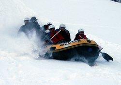 Ayder'de botlarla laz usulü kayak!
