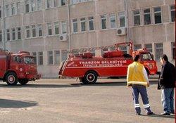 Trabzon'da yangın paniği