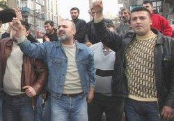 Trabzon esnafından Müdür eylemi