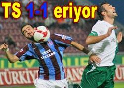 Trabzonspor 1-1 tükeniyor