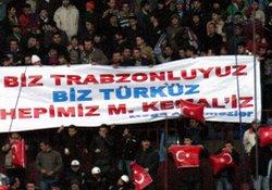 Trabzon'dan pankartlı tepki