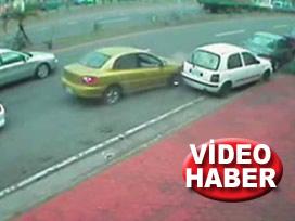 Bu nasıl kaza? VİDEO