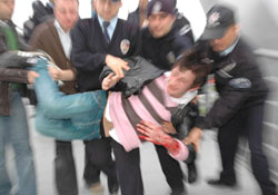 Rize'deki üstgeçitte intihar girişimi