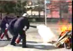 Fener Lisesi'nde yangın tatbikatı