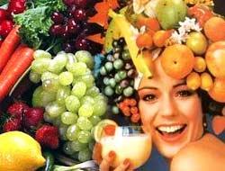 Meyvelerle gelen güzellik