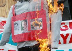 Artvin'de ABD işgaline protesto