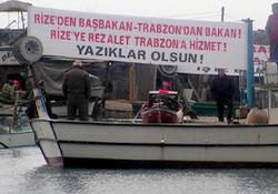 Rizeli balıkçılardan eylem