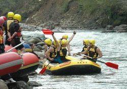 Rize'de Rafting heyecanı