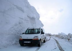 Rize'de Nisan ayında 4 metre kar!