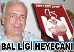 Ardeşenspor Bal Ligi'ne hazır