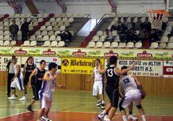 Rize'de basketbol heyecanı