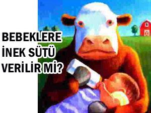 Bebeklere inek sütü verilebilir mi?