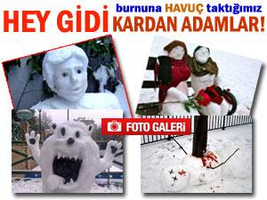 Kardan adam sanatında kendini aşanlar!
