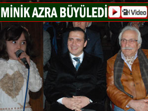 Minik Azra Pazar'da salonu mest etti