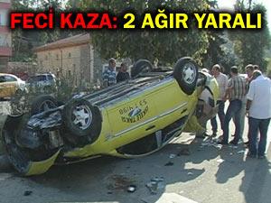 Pazar'ın ticari taksisi Ardeşen'de kaza yaptı