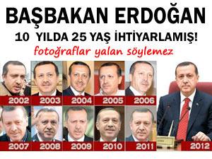 Başbakan 10 yılda 25 yaş birden yaşlanmış!