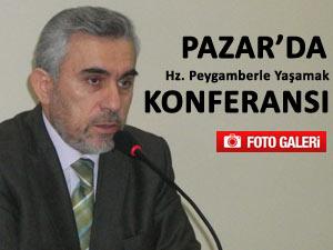 İL MÜFTÜSÜ PAZAR'DA KONFERANS VERDİ