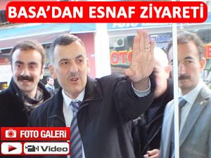 BAŞKAN BASA'DAN PAZAR'DA ESNAF ZİYARETİ