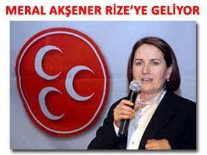 MHP Meral Akşener'i de Rize'ye getiriyor