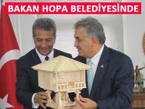 Bakan Yazıcı, Hopa Belediyesini ziyaret etti