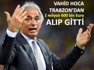 Trabzon, Vahid'i, antrenman sonrası yola verdi!