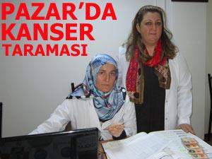 KETEM PAZAR'DA KANSER TARAMASI YAPTI