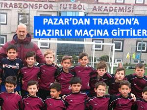 Pazarlı minik futbolcular Trabzonspor'la oynadı