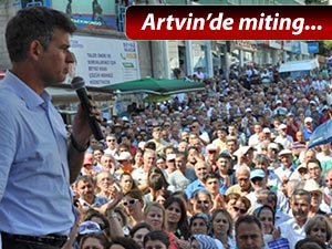 ARTVİN'DE HUKUK, DEMOKRASİ VE ÇEVRE MİTİNGİ